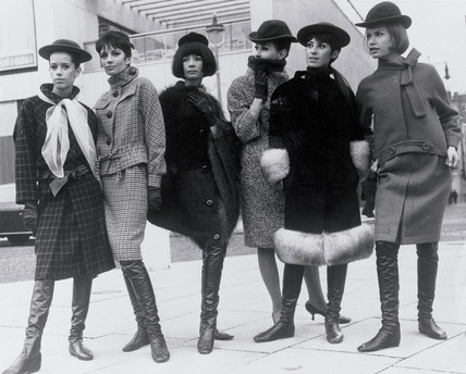 Pierre Cardin fashions at the Sunday Times Fashion Awards, 1963.