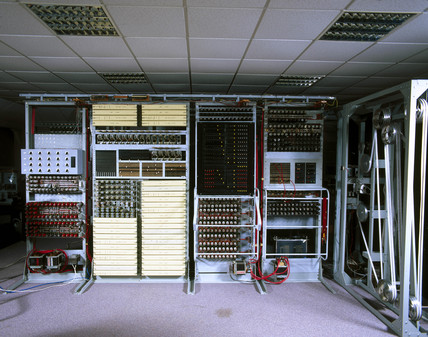 Re-creation of the 'Colosus' mark II computer, Bletchley Park, 1997.