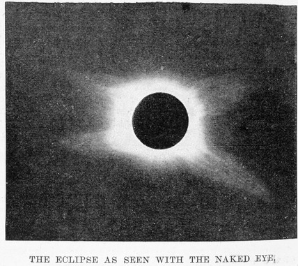 Solar eclipse, from Jeur, Maharashtra, India, 22 January 1898.