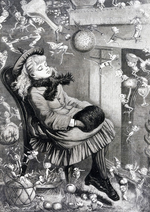 A Christmas Dream, c 1870s.