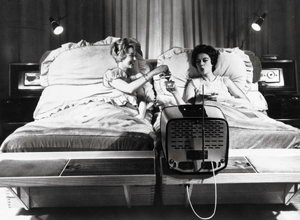 The multi-purpose bed which costs 2,500 pounds, 15 January 1959.