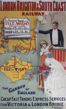 'Isle of Wight: The Garden of England', LB&SCR poster, 1905.