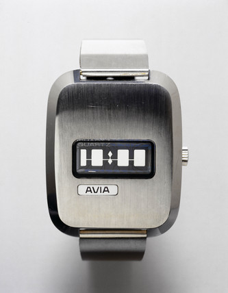 Avia quartz crystal watch, c 1972.