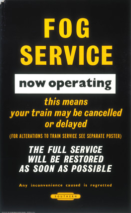 'Fog Service now operating', BR poster, 1965.
