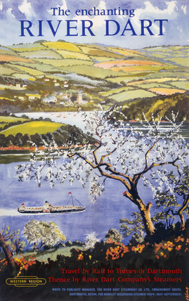 'The Enchanting River Dart', BR poster, 1961.