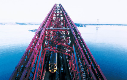 The Forth Bridge as seen from the Jubilee Tower, 1997.