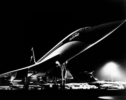 BOAC Concorde, London Heathrow Airport, 1968.