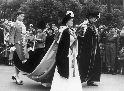 The Queen Mother on official duties, June 1956.