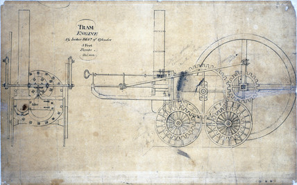 Trevithick's tram engine, December 1803.