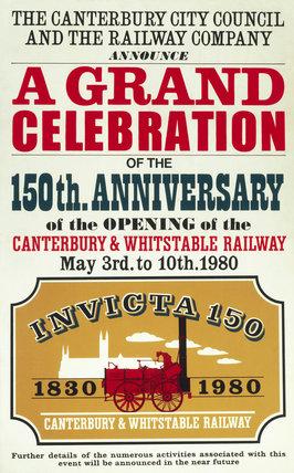 Invicta locomotive', British Rail poster, at Science and Society