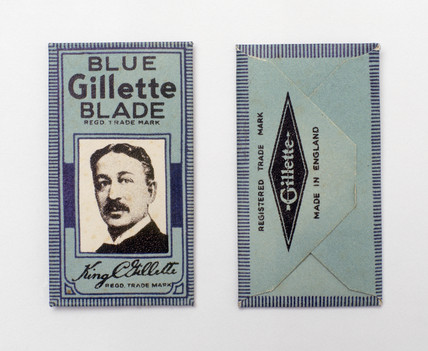 Gillette safety razor blades, c 1930s.
