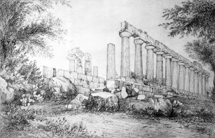 The Temple of Juno, Girgenti, Sicily, 28 June 1824.