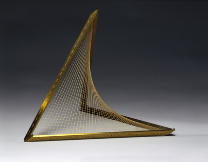 Hyperboloid of one sheet, string surface model, 1872.