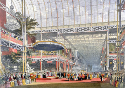 Inauguration ceremony, Crystal Palace, London, 1851.