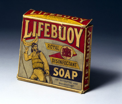Packet of 'Lifebuoy' soap, 1930s.