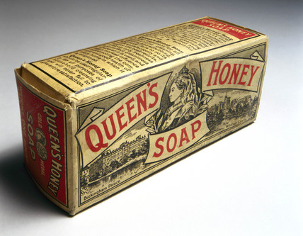 Packet of 'Queen's Honey' soap, c 1890-1914.
