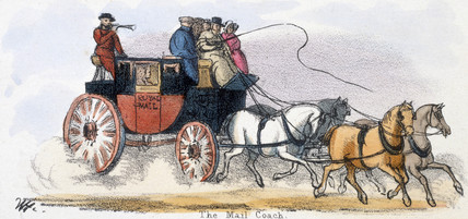'The Mail Coach', c 1845.