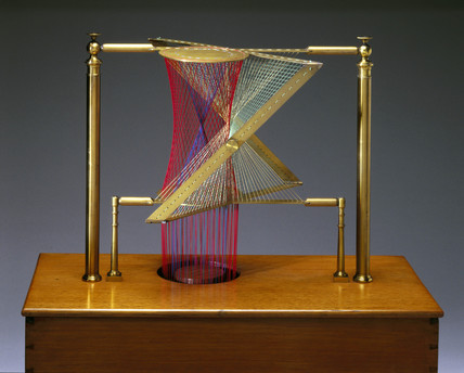 Hyperboloid and Asymptotic Cone, string surface model, 1872.