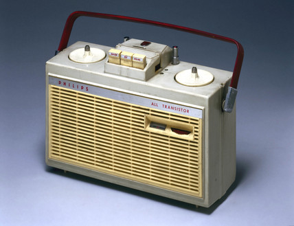Philips 'All Transistor', reel-to-reel tape recorder, c 1960.