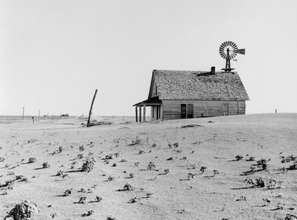 Dustbowl farm, Coldwater District, Texas, June 1938.