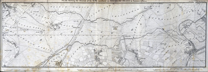 Plan of the base measurement on Hounslow Heath, Summer 1784.