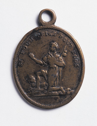 Oval amulet designed to protect against cholera, 19th century.