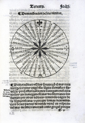 Chart showing marine winds, 1551.