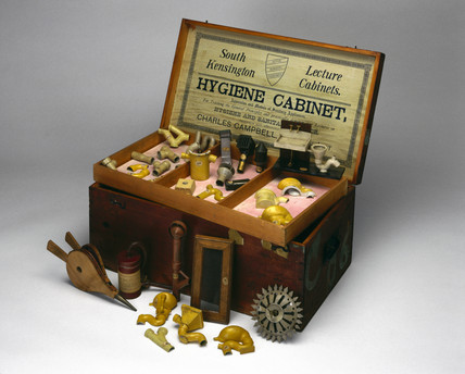 Hygiene Demonstration Cabinet, English, 1895.