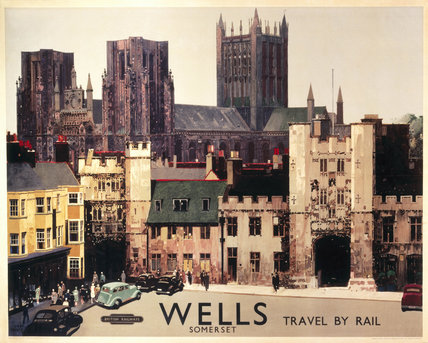 Wells, Somerset, BR (WR) poster, c 1950s.