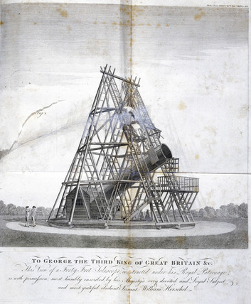 Herschel's forty-foot reflecting telescope, 1795.