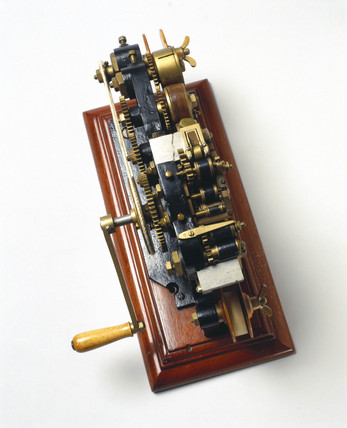 Ticket numbering machine, 1877.