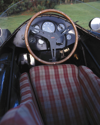 Cockpit of a Connaught grand-prix racing car, 1955.