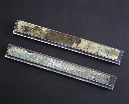 Two Chinese foot measures, 500-250 BC.