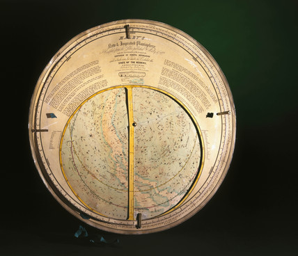 'Malby's New and Improved' planisphere, 1858.
