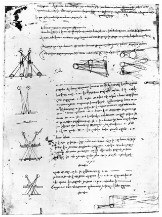 Study in binocular vision, from Leonardo da Vinci's notebooks, 15th century.