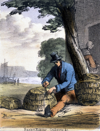'Basket-making: Crabpots', c 1845.