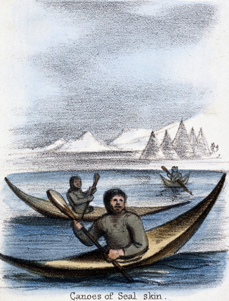 'Canoes of Seal Skin', 1845.