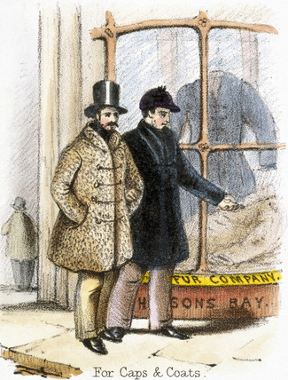 'Fur Caps and Coats', 1845.