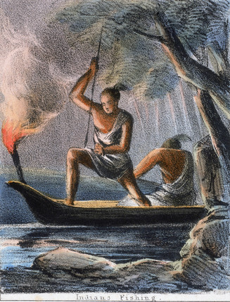 'Indians Fishing', c 1845.