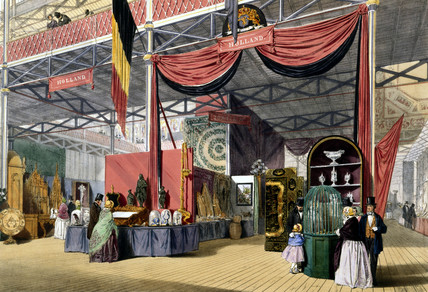 Dutch stand at the Great Exhibition, Crystal Palace, London, 1851.