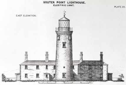 'Souter Point Lighthouse. Electric Light', 1873.