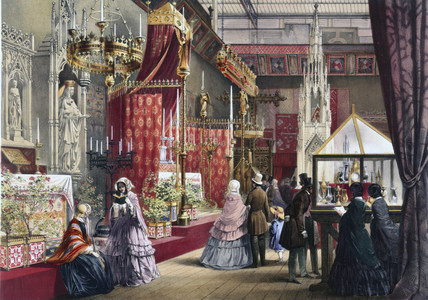 Medieval Court Stand At The Great Exhibition Crystal Palace London 1851 At Science And