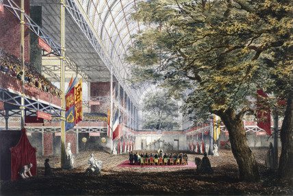 The closing ceremony of the Great Exhibition, Crystal Palace, London, 1851.
