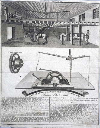 Patent block mill, 1794.