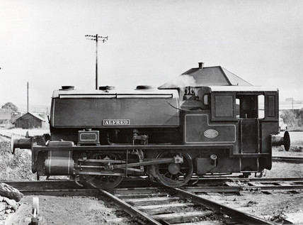 'Alfred' 0-4-0ST industrial steam locomotive, 1953.