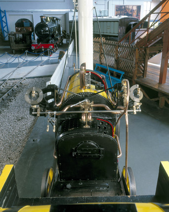 Stephenson's 'Rocket', 1829. Detail of fire