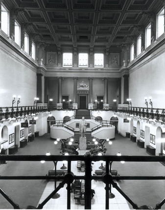 The Great Hall at Euston Station, c 1950s.