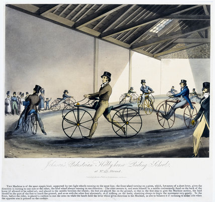 'Johnson's Pedestrian Hobby Horse Riding School', 1819.