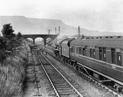'The Royal Scot', Ais Gill, Cumbria, c 1950s.