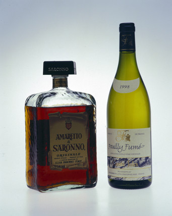 Two alcoholic drinks, late 1990s.